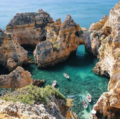 The Ponta da Piedade, near Lagos, Algarve, Portugal. Photo by haylsa via Instagram #amitrips #travel #beach #nature