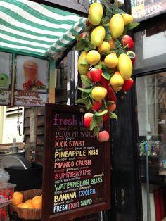Adorable juice bar in Camden, London