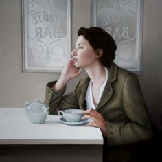 """Mary Jane Ansell painting """"The Cafe"""""""
