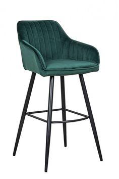 Barová stolička s opierkami smaragdová zelená. Turin, Loft, Interior, Furniture, Home Decor, Products, Decoration Home, Indoor, Room Decor
