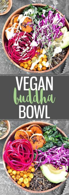 Vegan Buddha Bowl with Lemon Tahini Dressing - This power bowl is absolutely delicious! Super easy to make, packed with flavor, nourishing, healthy, and it comes together in about 50 minutes. #healthy #bowl #tahini #vegan via @easyasapplepie