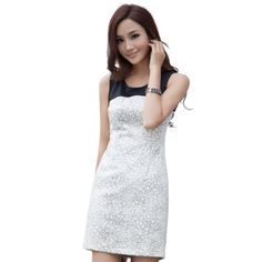 Idf 2014 new fashion spring and summer new arrival print women's one-piece sleeveless casual dress $42.20