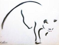 "Saatchi Art Artist Kellas Campbell; Drawing, ""Cat in Charcoal Pastel"" #art"