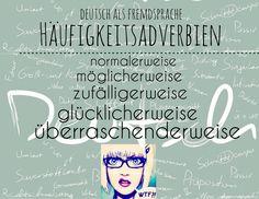 Deutsch als Fremdsprache Häufigkeitsadverbien #wtf XD