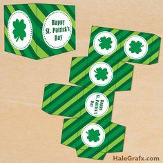 st patricks treat box FREE Printable St. Patricks Day Treat Box