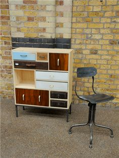 Upcycled drawer cabinet