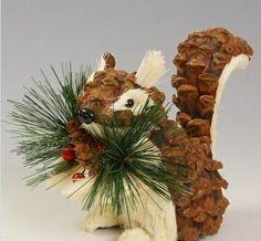 Pine Cone Crafts | Pine Cone Squirrel Craft | IDEAS