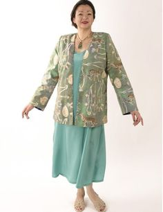 Plus Size Designer Jacket Coco Rainforest Beaded Baby Cheetah Gold Green Teal_SHOP NOW: Unique jackets for women Sizes 14 - 36, mother of the bride, special occasion, artwear, elegant and unique women's clothing,xoPeg #plussizesale #PeggyLutzPlus #PlusSize #style #plussizestyle #plussizeclothing #plussizefashion #womenstyle #womanstyle #womanfashion #holidaysale #holidaystyle #fallstyle #eveningwear #longcoats #style #couture #elegantwoman #elegantplus #uniquejackets #divastyle