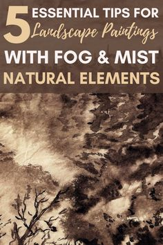I am really excited to try these fog painting tips in my landscape paintings! The temperature shifts here have been creating such cool misty mornings... and I've been curious of how to paint fog better in order to capture them