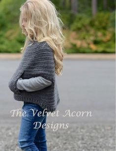 Crochet Pattern Osyan Cape Pullover 2/3 4/5 6/7 от Thevelvetacorn