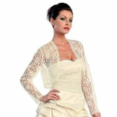 Luxury Divas Ivory White Long Sleeve Lace Bolero Dressy Shrug Jacket Size Small Dancing Queen http://www.amazon.com/dp/B005HKCEL6/ref=cm_sw_r_pi_dp_BLyUtb185MDF0AAX