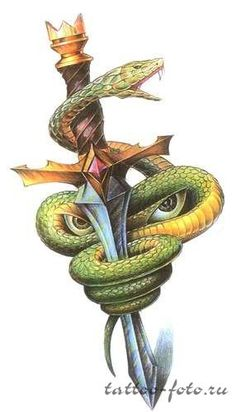 тату змея и ее значение + эскизы