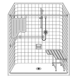 Images Of Roll In Shower Flip illus over so that bench grab bar towel bar and