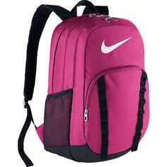 Nike Brasilia 7 Xl Backpack ($50) ❤ liked on Polyvore featuring men's fashion, men's bags, men's backpacks, pink and nike
