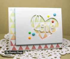 Patterned Triangles Background, TRANSFORM-ables Heart Full of Love Die-namics, Blueprints 1 Die-namics, Blueprints 2 Die-namics - Jodi Collins #mftstamps  http://www.mftstamps.com/blog/rainbow-connection/