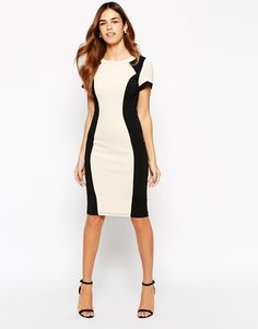 Paper Dolls Textured Pencil Dress With Contour Panel (Asos) - $87