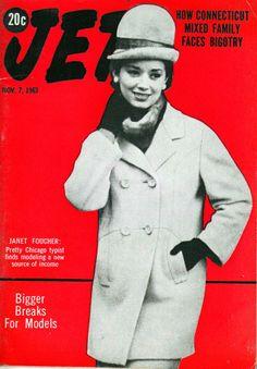 Model Janet Foucher Covers Jet Magazine - Jet Magazine November 7, 1963
