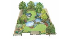 This traditional design floor plan is 0 sq ft and has 0 bedrooms and has 0 bathrooms. Landscape Plans, Landscape Design, Garden Design, Backyard Pool Designs, Backyard Landscaping, Garden Planning, Garden Inspiration, Planer, Plan Design