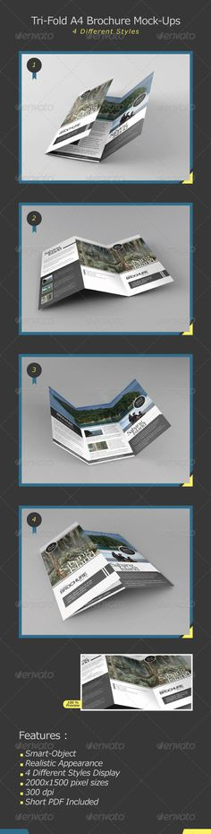 Print Mockup - Tri-Fold Brochure Mock-Ups - Print Mockup by Juntravolta. Brochure Design, Brochure Template, Mockup Photoshop, Pixel Size, Beauty Photos, Presentation Templates, Layout Design, Tri Fold, Design Inspiration