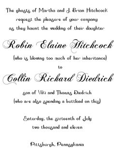 funny wedding invitation too - Wedding Invitation Wording Both Parents