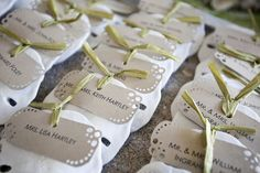 sand dollar name tags/favors or table place numbers
