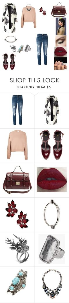 """&"" by ohbabyimrachel ❤ liked on Polyvore featuring 7 For All Mankind, Acne Studios, H&M, Retrò, BIBI VAN DER VELDEN, Mulberry, Chico's, Charlotte Russe and Shourouk"