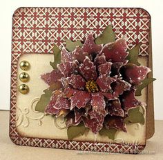 Poinsettia Card | Inky Paws - Tattered Poinsettia die http://inkypaws.blogs.splitcoaststampers.com/2012/12/07/poinsettia-card/