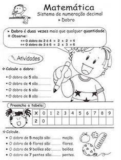 Lição de casa: atividades com dobro e metade