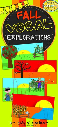 These Fall vocal explorations contain 24 different explorations as well as blank slides for students to create their own. Great for warm-ups or quick brain breaks!