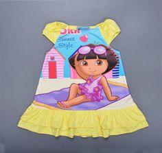 Dora baby girl dress cartoon girl party dresses flower girls dresses for party and wedding kids dresses for girls vestido roupa