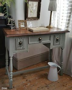 Pretty-Painted-Vintage-Shabby-Chic-Desk-Dressing-Table-Sideboard-Farrow-Ball