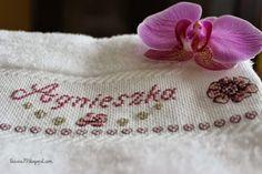 Wedding towels, cross stitch
