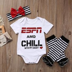 ESPN and CHILL With My Daddy Romper Set