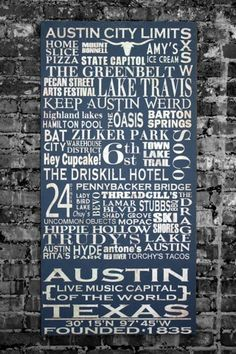 Austin, TX- Love this!