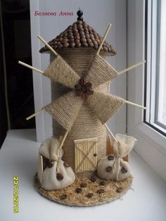 22 Awesome Ideas- How to make your own Fairy Garden Kids Crafts, Diy Home Crafts, Arts And Crafts, Art N Craft, Craft Stick Crafts, Diy Art, Jute Crafts, Paper Crafts, Windmill Diy