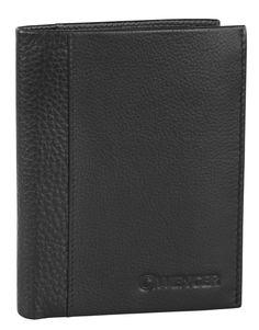 Wenger Nexus Hochformatbörse mit Klappe, vertikal 9,5x12,5x1,5 cm Schwarz