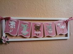 Picture frame Banner made with the twinkle toes cricut cartridge!!