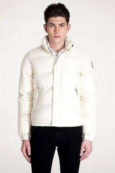 Moncler everest jacket for Men buttons sleeve White [2900025] - £139.08 :