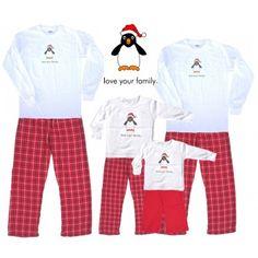 f9247ab92 Matching Pajamas for Family | PENGUIN Santa Hat Design Matching Christmas  Pajamas, Matching Pajamas,