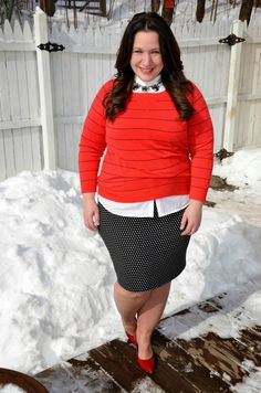 Full Figured & Fashionable: HAPPY VALENTINES DAY Full Figured & Fashionable Plus size fashion for women Like this, but would lose the high collar