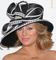 Although something ornate is Derby Day appropriate, this hat is a tad matronly for such a filly.