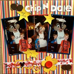 Love scrapbook Disney pictures of my grandsons!! Goofy's kitchen is always a blast.