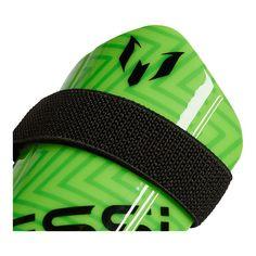 the best attitude 14a9c 3a23e adidas Messi 10 Youth Shin Guards - Solar Green Solar Lime Black