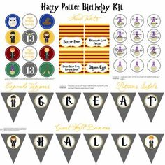 harry potter birthday party-with printables