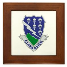 """506th PIR Framed Tile by CafePress by CafePress. $15.00. Two holes for wall mounting. Rounded edges. Frame measures 6"""" X 6"""" x 0.5"""" with 4.25"""" X 4.25"""" tile. 100% satisfaction guarantee return policy. Quality construction frame constructed of stained Cherrywood. Framed Tile"""