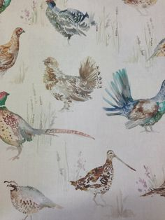 Woodland Birds Wallpaper by Voyage 'Country' Wall Art @ Cotton Tree Interiors UK (+44)1728 604700