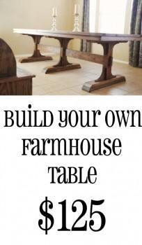 diy dining table for only $65   diy farmhouse table, farmhouse
