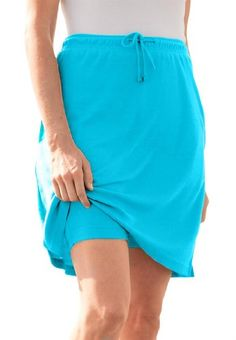 19e8a639754 Skort in soft sport knit with custom-fit waist