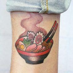 ramen bowl tattoo  :::  Tania Zhang  :::   https://instagram.com/cycypunkero