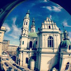 Fisheye Church, Warsaw, Poland